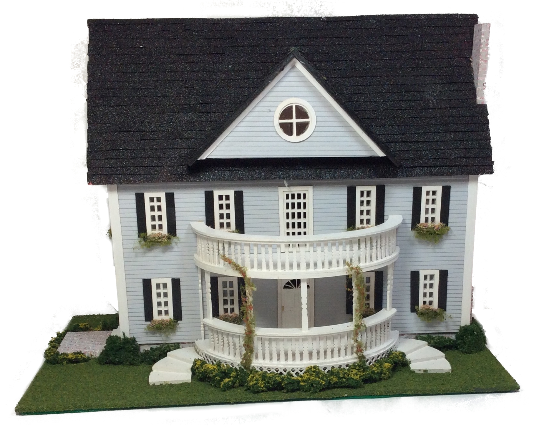 Complete kit quarter inch scale classic colonial style for Complete kit homes