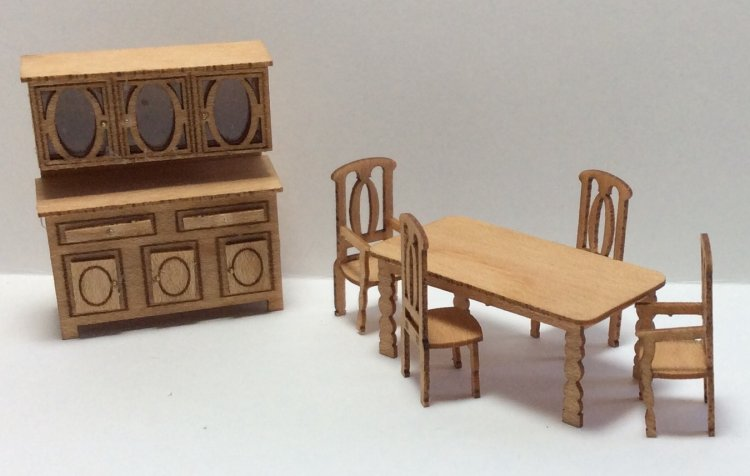 Quarter Inch Scale Country Style Dining Room Furniture Kit Hart S