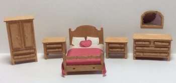 Quarter Inch Scale Country Style Bedroom Furniture Kit ...
